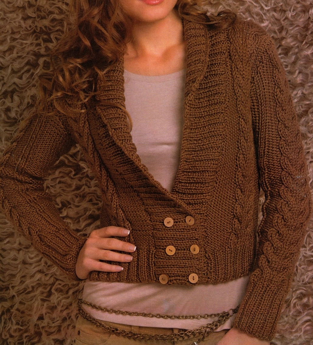 Patrones de Tejido Gratis - Saco marrón