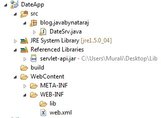 how to get current date and time in java servlet