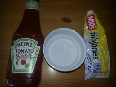 Ketchup og majones