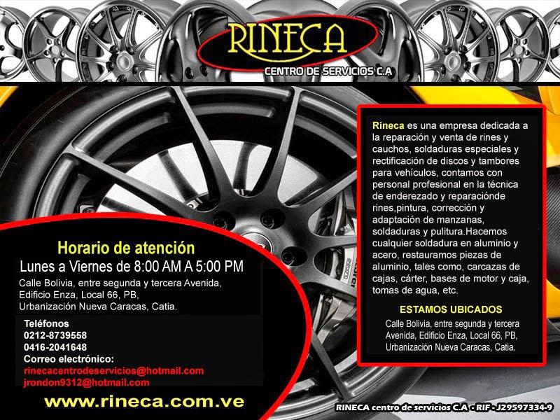 RINECA CENTRO DE SERVICIO C.A en Paginas Amarillas tu guia Comercial