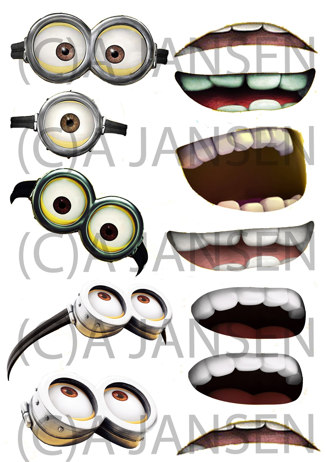 Punchy image inside minion mouth printable