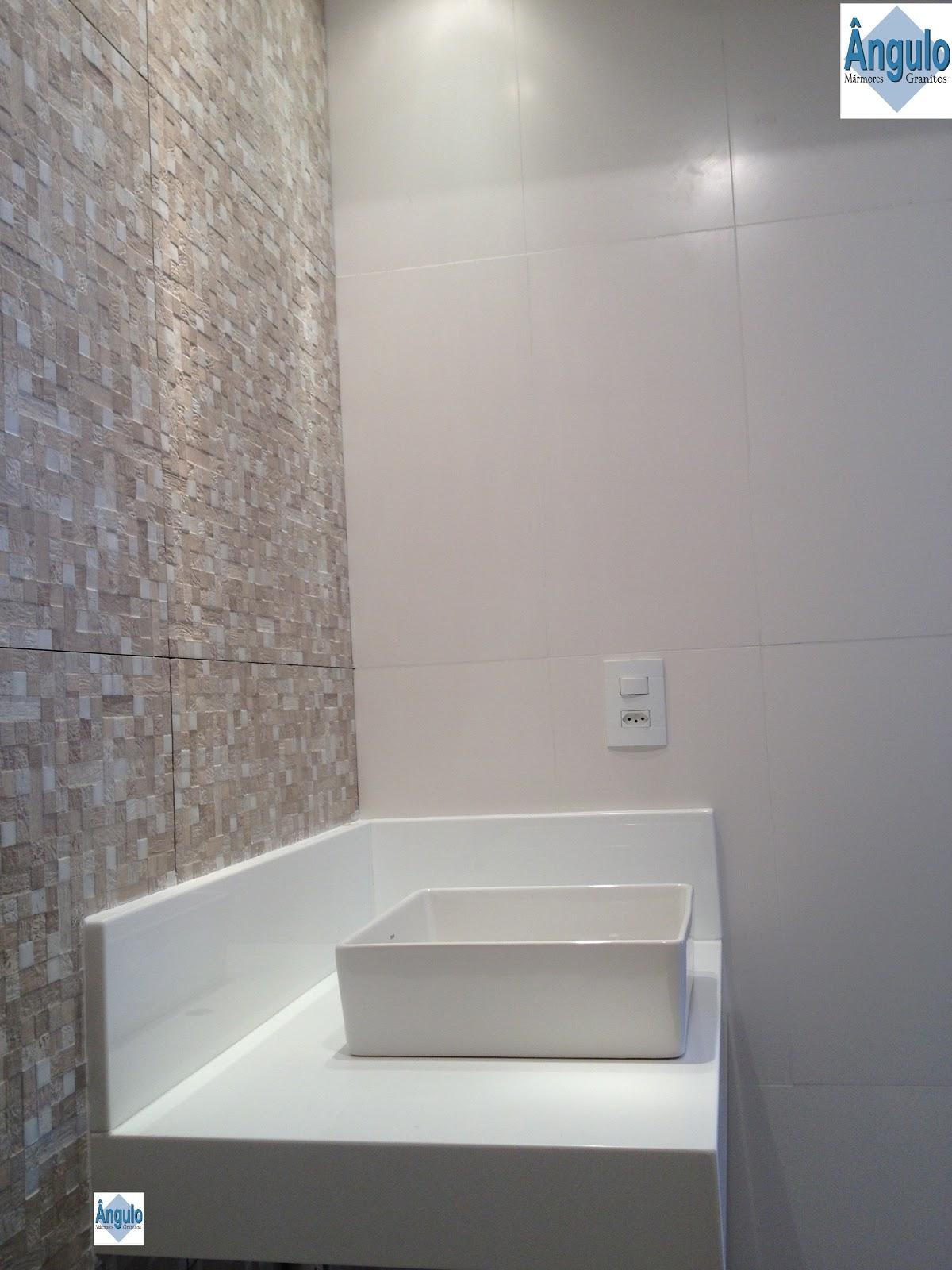 Ângulo Mármores e Granitos Cuba de Apoio  Bancada Nanoglass -> Pia De Banheiro Em Nanoglass