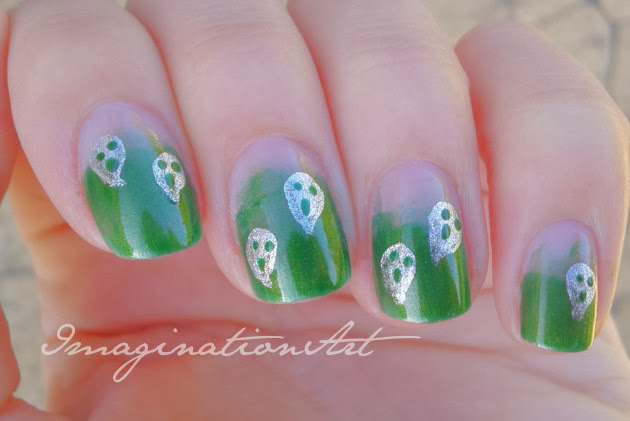 nail art halloween fantasmi ghost