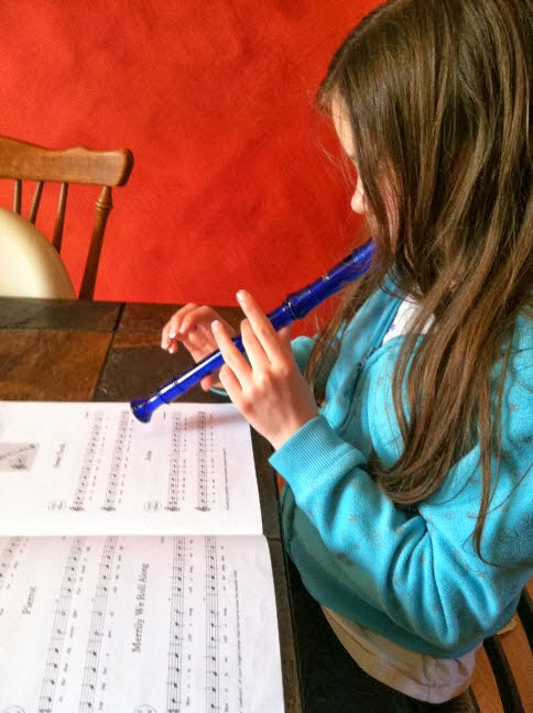 Practicing the recorder is a great introduction to musical instruction.