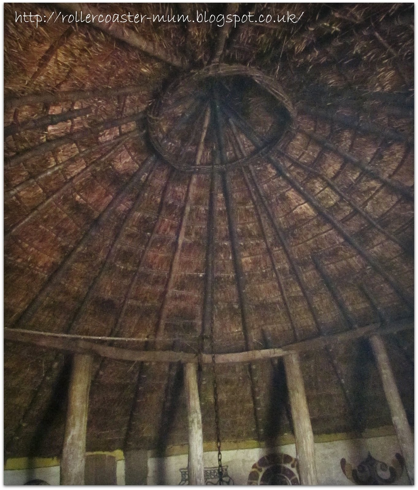 Iron Age Roundhouse roof inside - Butser Ancient Farm