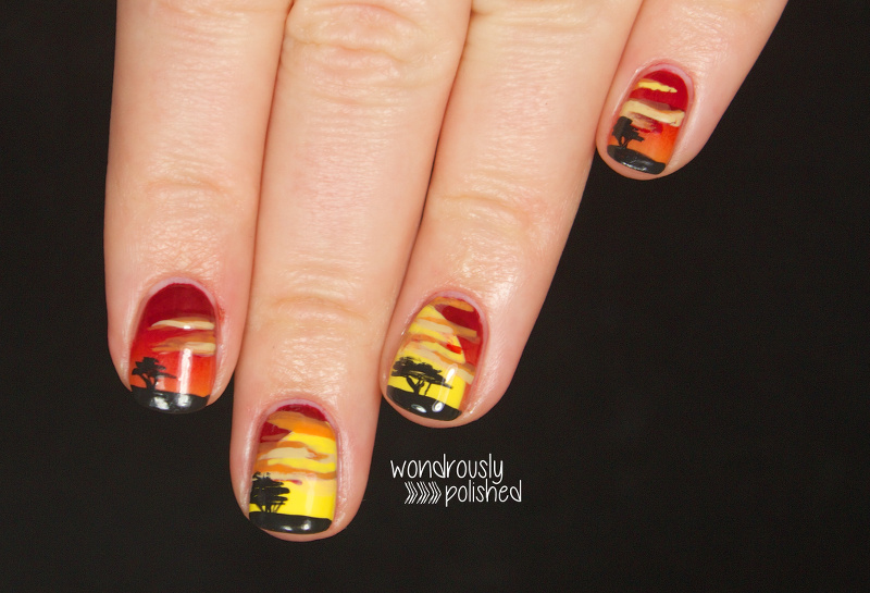 Awesome Lion King Nail Art Gift - Nail Paint Design Ideas ...