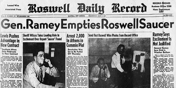 Gen Ramey Empties Roswell Saucer