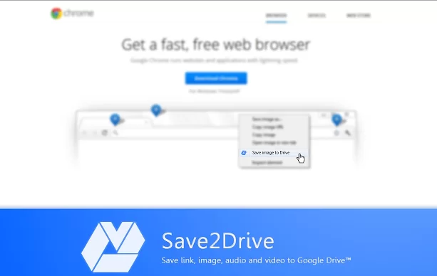 Save to drive chrome extension
