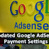 Update Google AdSense Payments and Account Settings