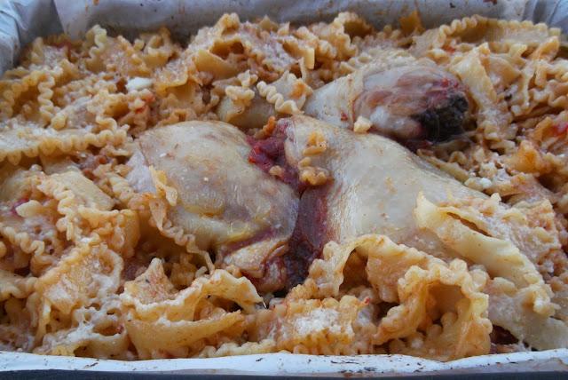 mafaldine al forno con pollo