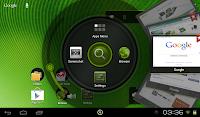 緑づくしのホーム画面