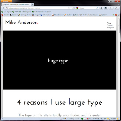 Screen shot of http://mikeyanderson.com/optimal_characters_per_line.