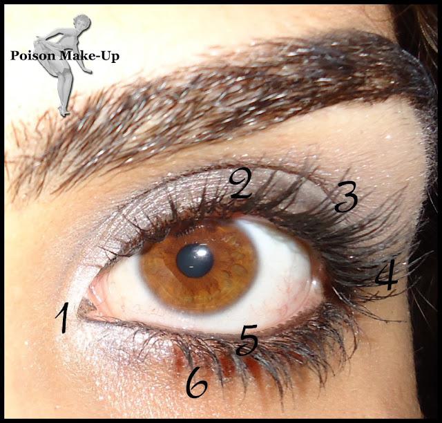 Um mapa do olho para facilitar e ajudar na hora de se maquiar.