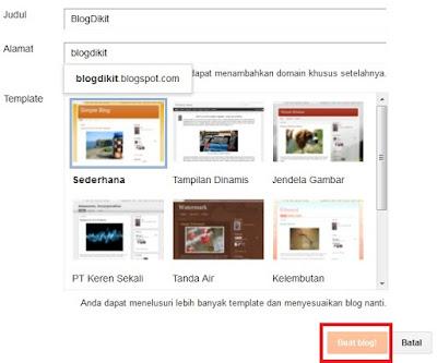 cara membuat blog di blogspot 6