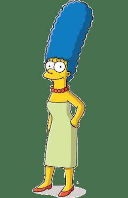 Marge la madre de los simpsons