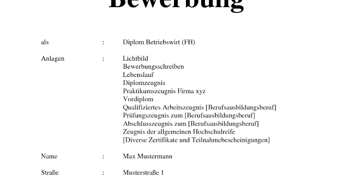 Niedlich Lebenslauf Eines Diplom Betriebswirt Zeitgenössisch ...