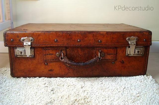 Kp tienda vintage online maleta de cuero antigua for Maletas antiguas online