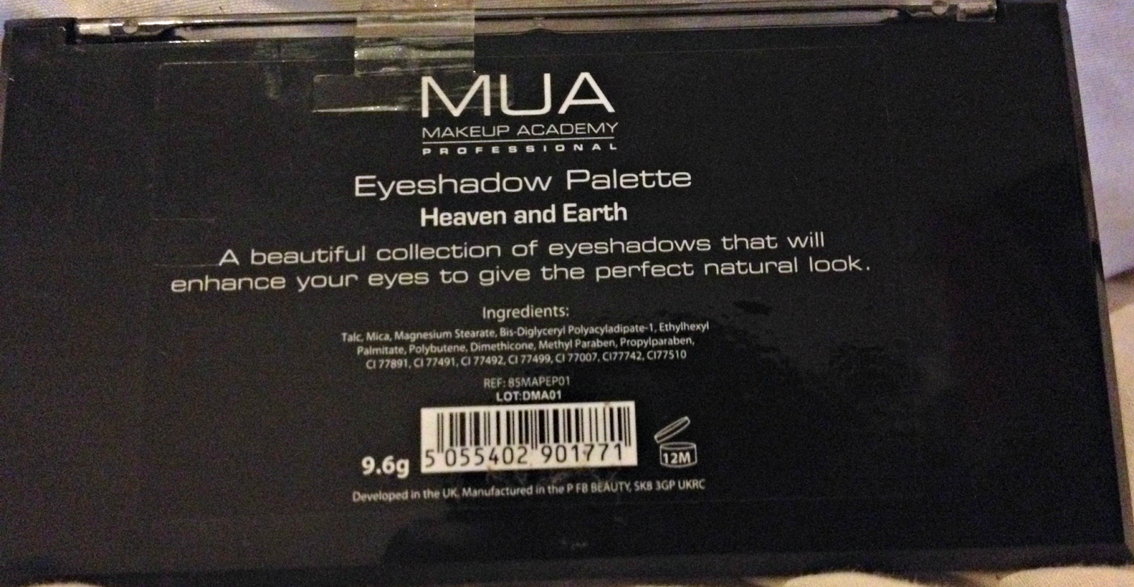 MUA eyeshadow heaven earth