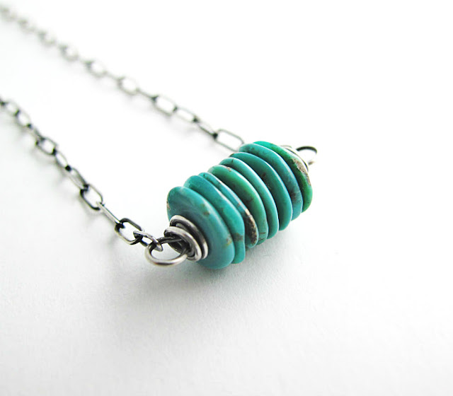 Shaman Sterling Silver and Turquoise Necklace by Beth Hemmila of Hint Jewelry