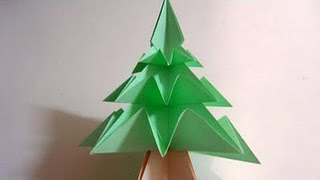 origami maniacs origami christmas tree 1 variation by jo. Black Bedroom Furniture Sets. Home Design Ideas