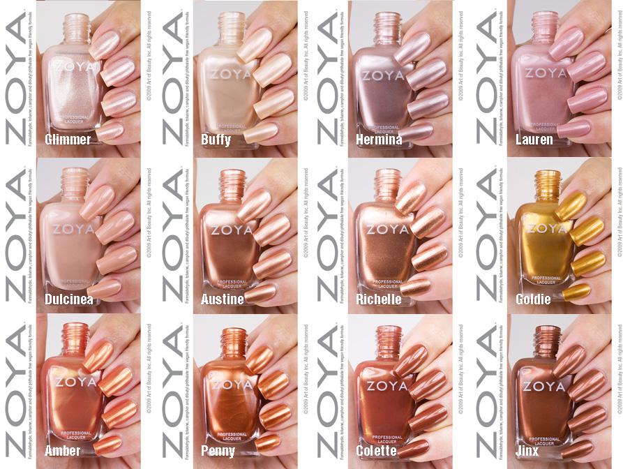 on nails spot: Gold Nail Polish by Zoya - Get Gilded! Zoya Sparkle