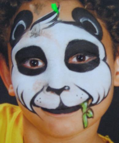 Panda Face Painting