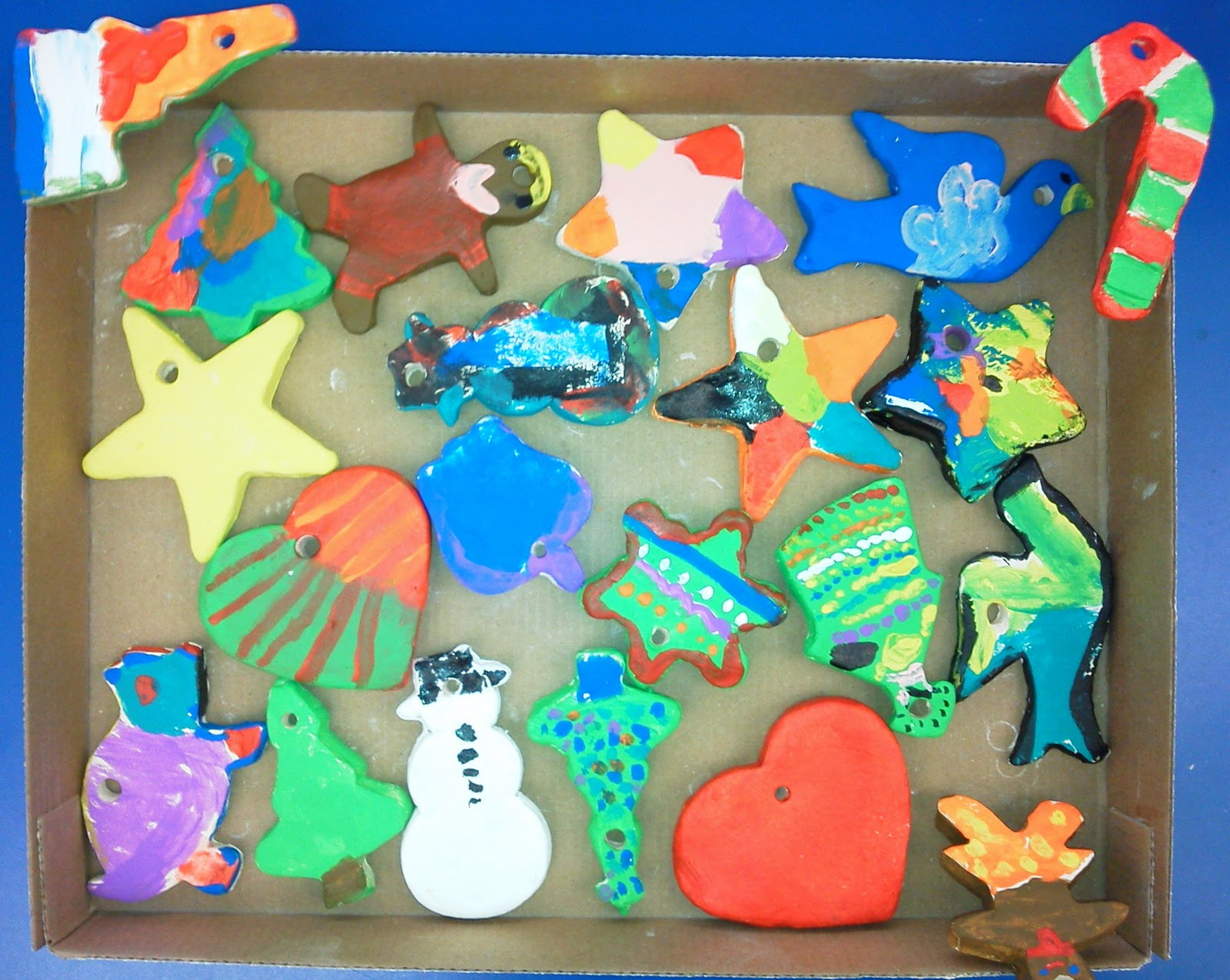 candice ashment art clay christmas ornaments made by kids