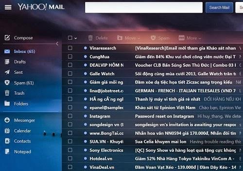 Yahoo Mail đổi giao diện để thu hút người dùng