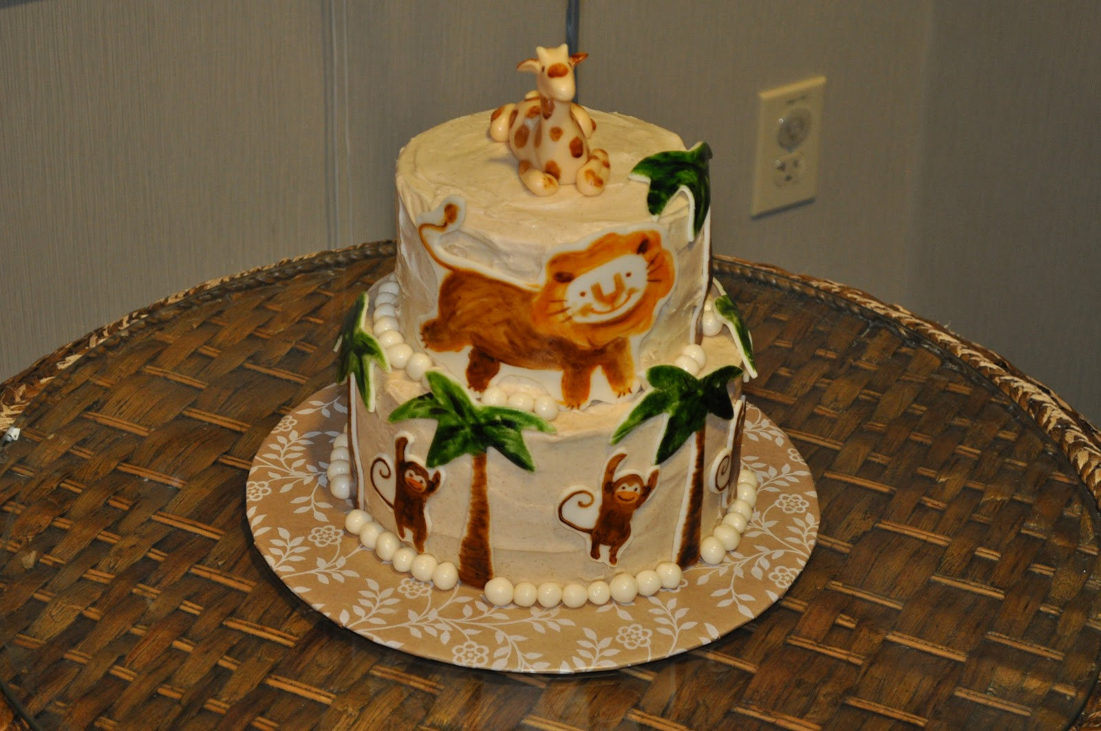kakes by kristy jungle theme baby shower cake