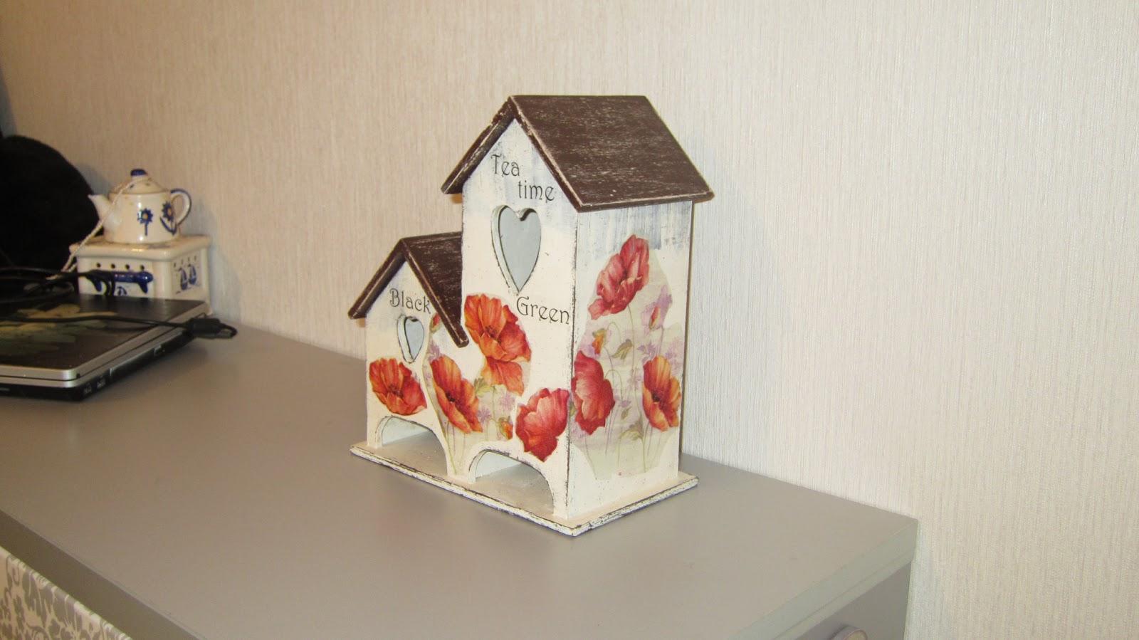 Чайные домики своими руками декупаж фото 763