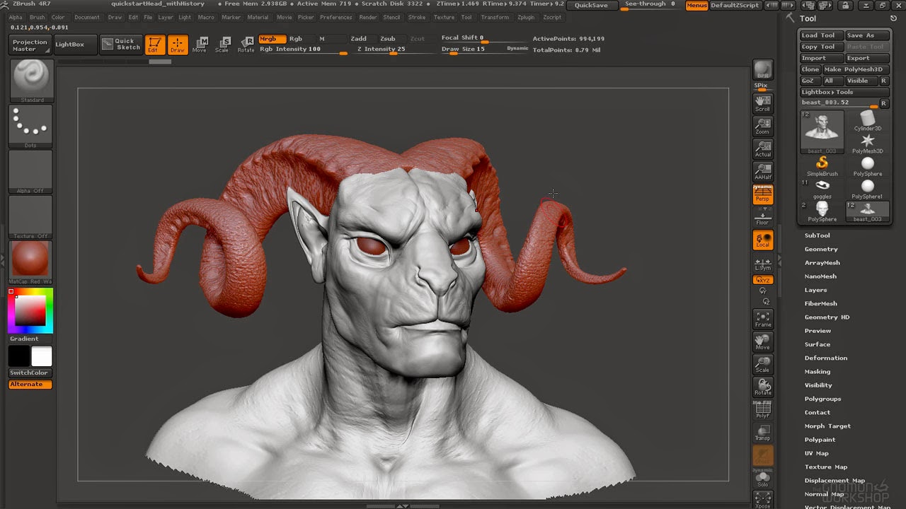Gnomon Introduction to ZBrush 4R7 with Madeleine Scott-Spencer