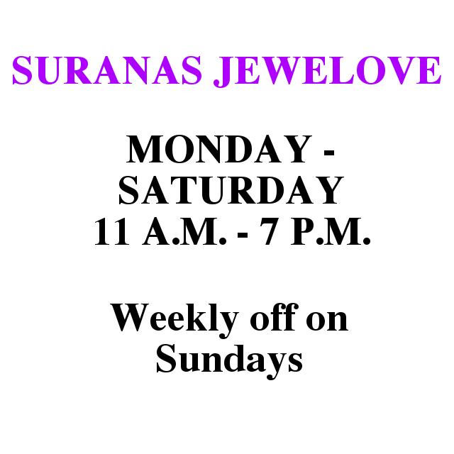 Store Timings Updated for Suranas Jewelove, Jaipur