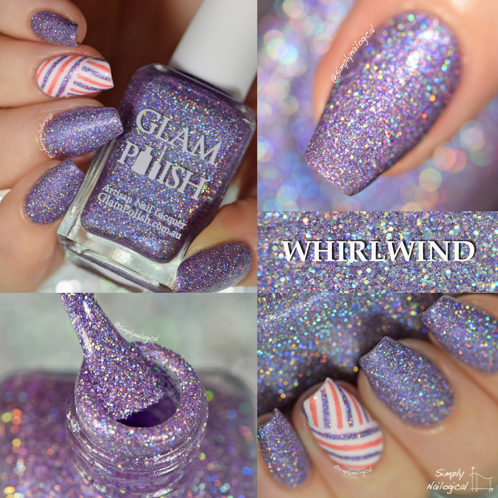 Glam Polish December 2014 Whirlwind swatch