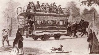 Primer tranvía con motor de sangre para 24 pasajeros. Abuelohara