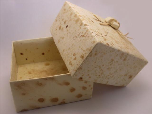 Упаковка украшений своими руками. Коробочка. Кофейная бумага.