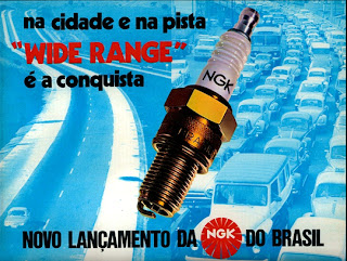 propaganda velas NGK - 1972, 1971; brazilian advertising cars in the 70s; os anos 70; história da década de 70; Brazil in the 70s; propaganda carros anos 70; Oswaldo Hernandez;