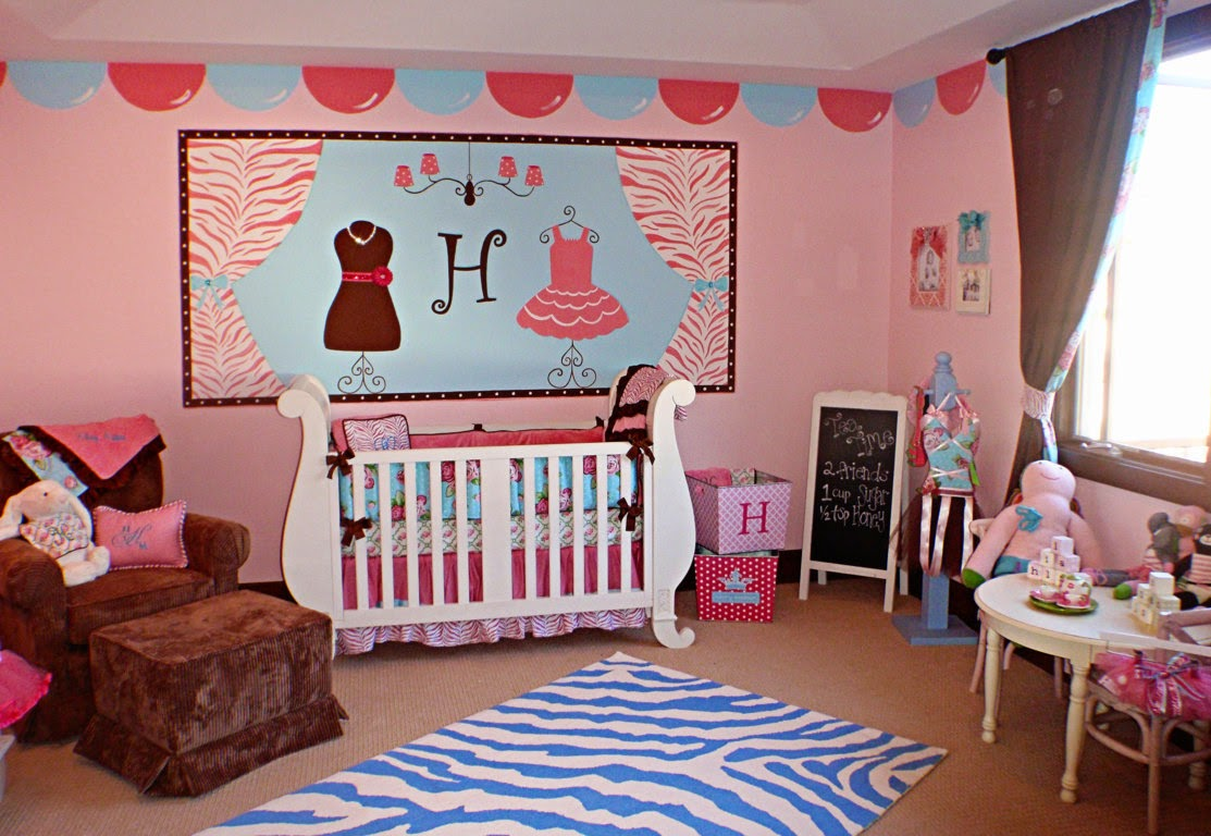 painting ideas for a baby girl's room