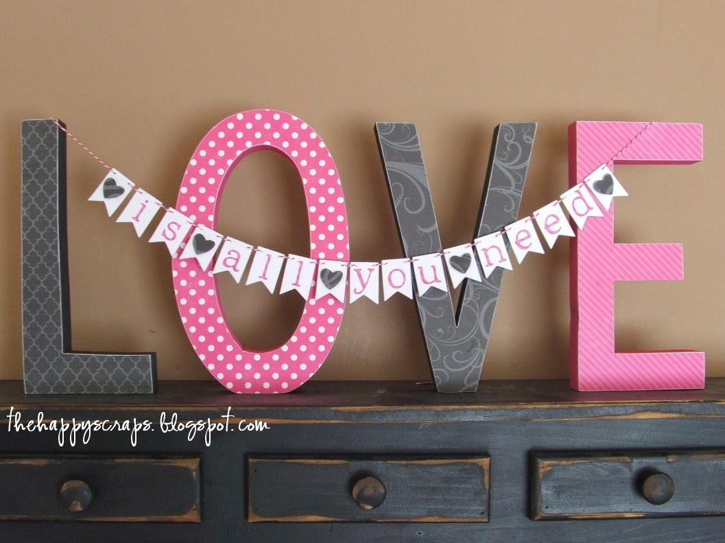 Valentine's Day Love Printed Banner