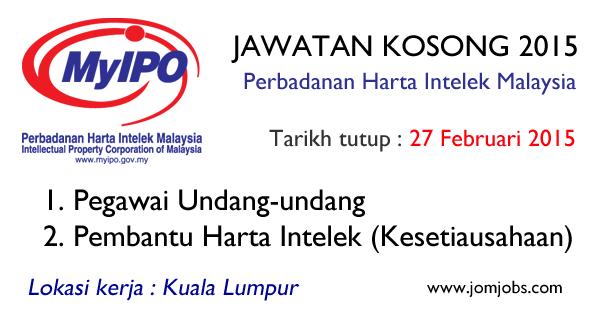 Jawatan Kosong MyIPO - Perbadanan Harta Intelek Malaysia