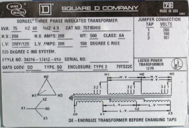 engineering photos,videos and articels (engineering search engine how to hook up a 480 to 240 transformer at Square D Sorgel Transformers Wiring Diagram