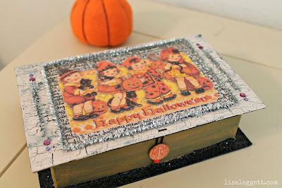 Vintage Insprired Halloween Keepsake Box