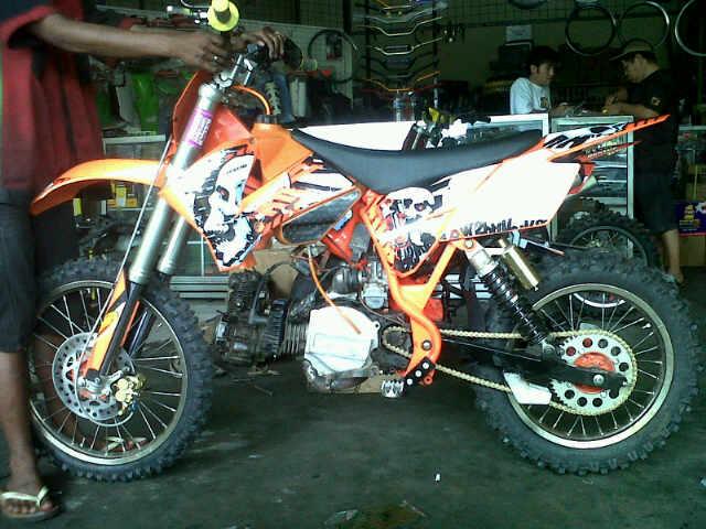 Modifikasi motor untuk adventure & grasstrack