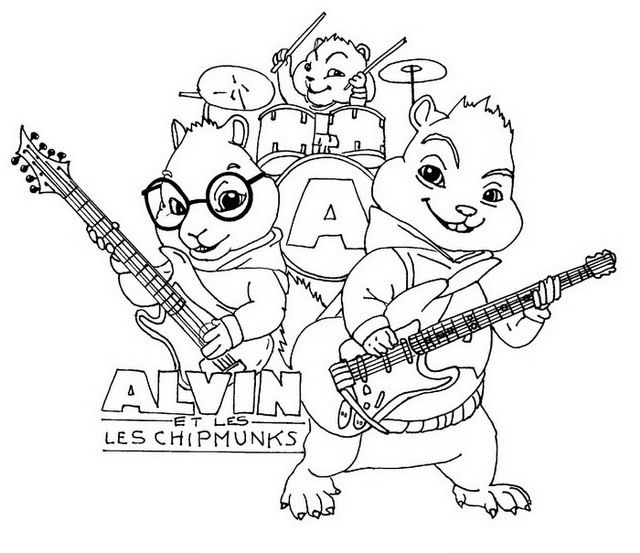 cartoon character coloring pages  alvin and the chipmunks coloring pages