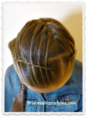 waterfall twist braid headband, top view