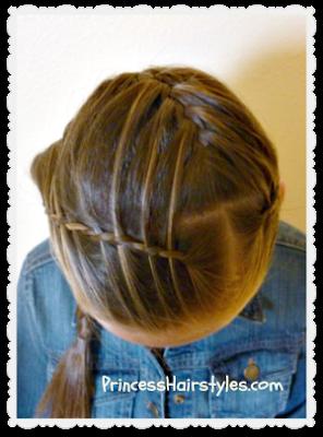 waterfall twist braid headband, top view