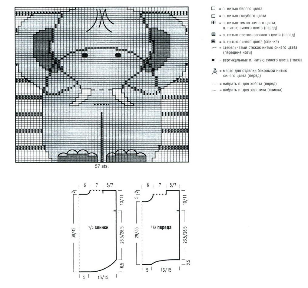Выкройки и рисунки для вязания спицами