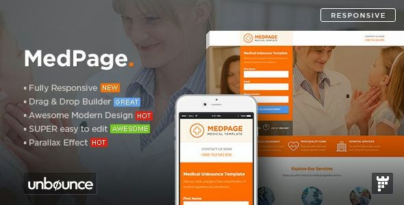 MedPage - Medical Unbounce Template