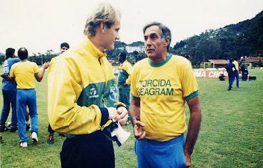 Tafarel e Felix, campeões das copas de 1970 e  de 1994