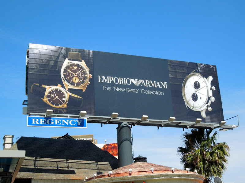 Emporio Armani retro watch billboard