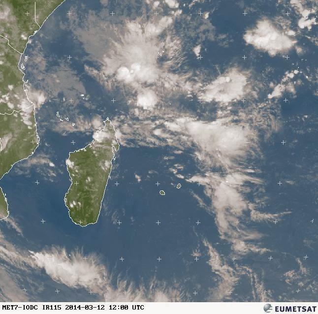 Image satellite météo Réunion 974 12 mars 2014